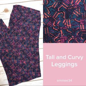 Lularoe Leggings TC teal pink purple NWOT 12-18